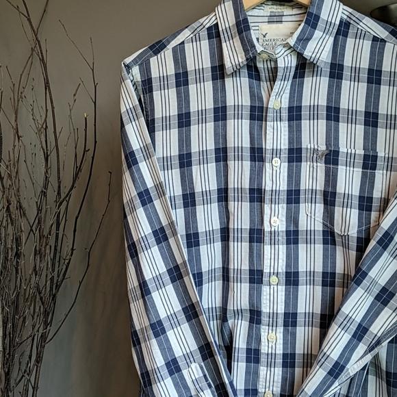 American Eagle, Men's L/S Button-Down Shirt